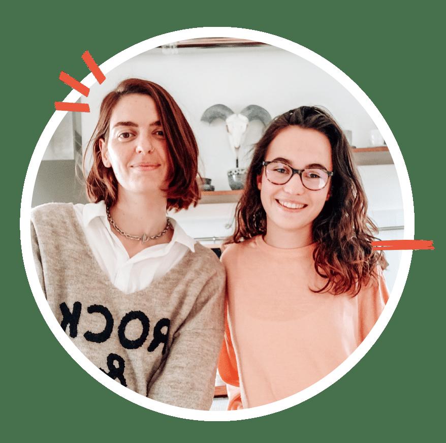Camille et Auriane - Pluton graphiste food